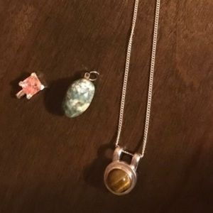 ❗️Sterling silver necklace with pendants❗️